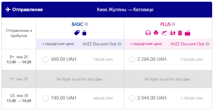 стоимость билета Киев Катовице