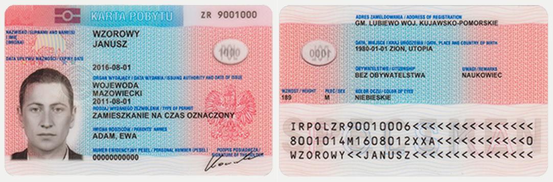 Карта побыту или подтверждение временного вида на жительство в Польше
