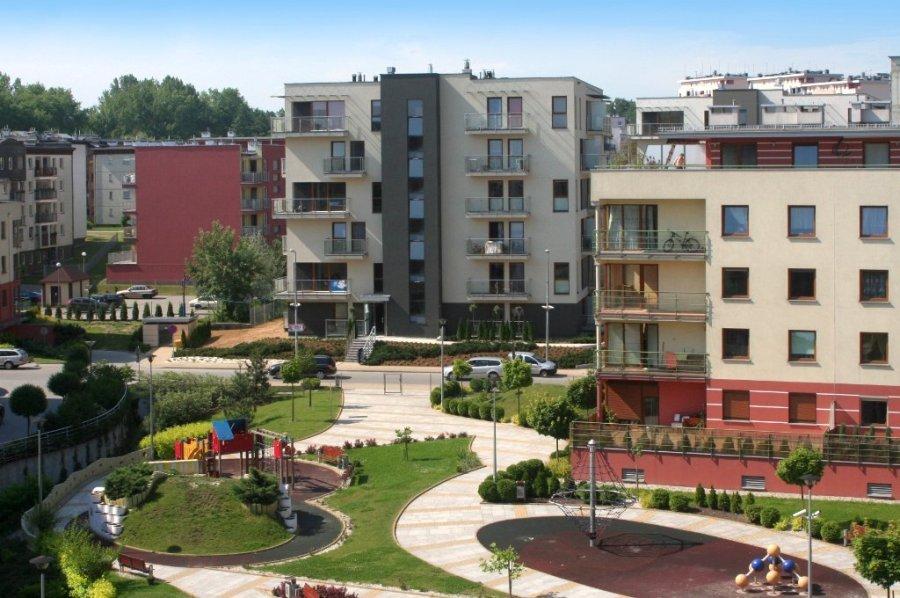 вот так выглядит обычный дворик в спальном районе Кракова (жилой массив Ruczaj)