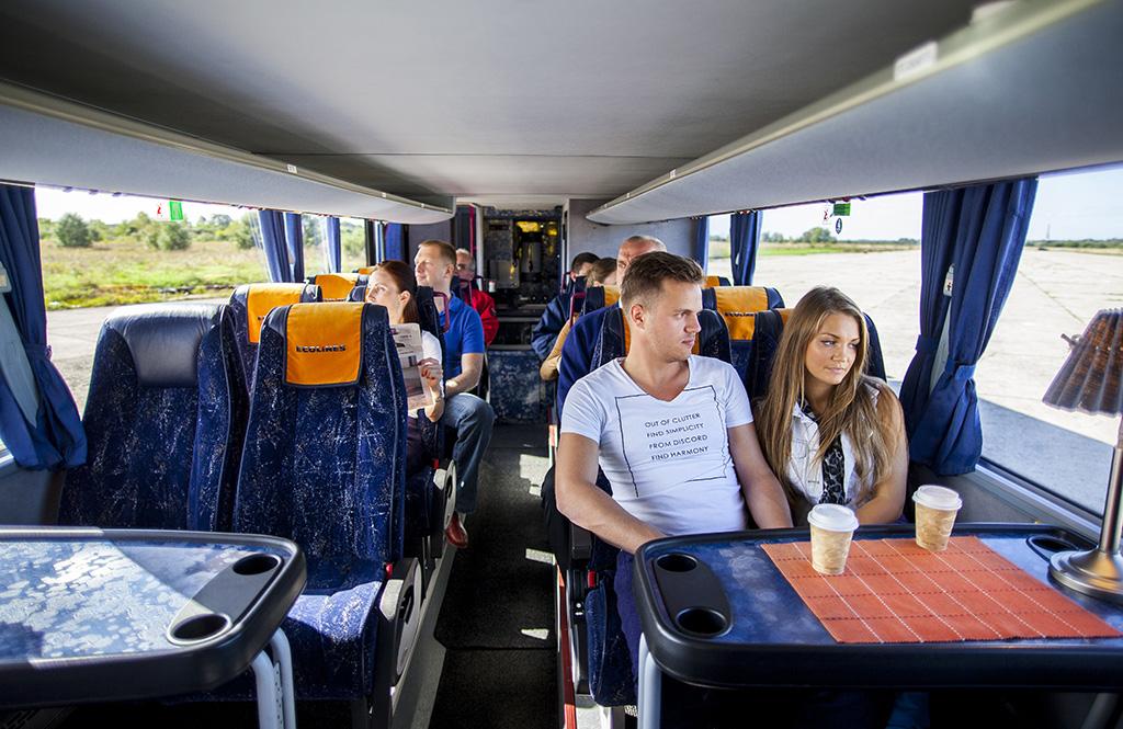 Вот так выглядит автобус Ecolines Львов -Краков внутри