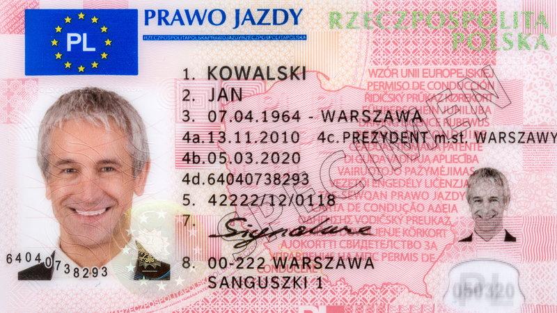Замена прав в Польше